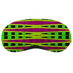 Bright Green Pink Geometric Sleeping Masks