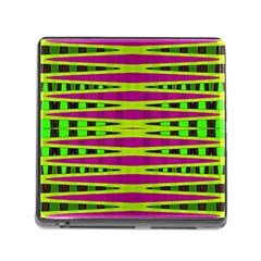 Bright Green Pink Geometric Memory Card Reader (square)