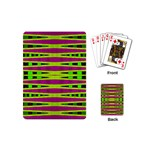 Bright Green Pink Geometric Playing Cards (Mini)  Back