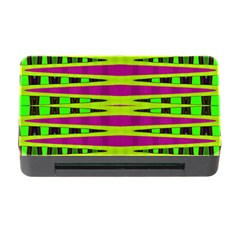 Bright Green Pink Geometric Memory Card Reader with CF