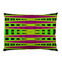Bright Green Pink Geometric Pillow Case (two Sides)