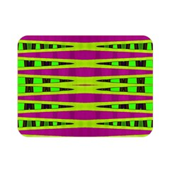 Bright Green Pink Geometric Double Sided Flano Blanket (Mini)