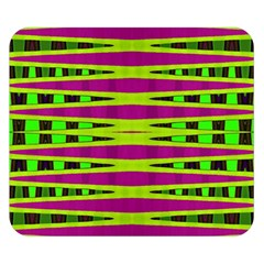 Bright Green Pink Geometric Double Sided Flano Blanket (Small)