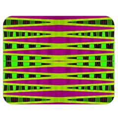 Bright Green Pink Geometric Double Sided Flano Blanket (medium)