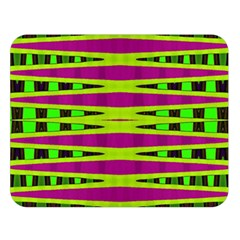 Bright Green Pink Geometric Double Sided Flano Blanket (large)