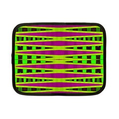 Bright Green Pink Geometric Netbook Case (Small)