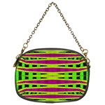 Bright Green Pink Geometric Chain Purses (Two Sides)  Back
