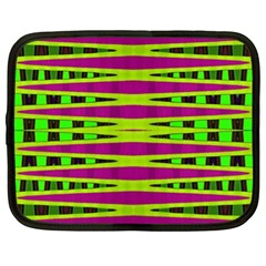 Bright Green Pink Geometric Netbook Case (xl)