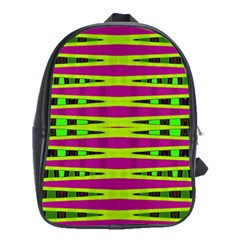Bright Green Pink Geometric School Bags(large)
