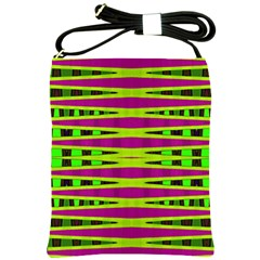 Bright Green Pink Geometric Shoulder Sling Bags