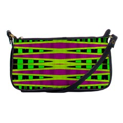 Bright Green Pink Geometric Shoulder Clutch Bags