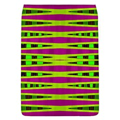 Bright Green Pink Geometric Flap Covers (l)