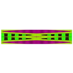 Bright Green Pink Geometric Flano Scarf (small)