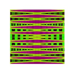 Bright Green Pink Geometric Small Satin Scarf (square)