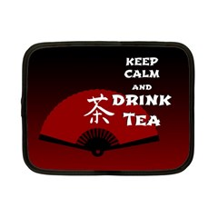 Keep Calm And Drink Tea - dark asia edition Netbook Case (Small)