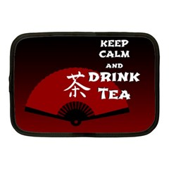 Keep Calm And Drink Tea - dark asia edition Netbook Case (Medium)