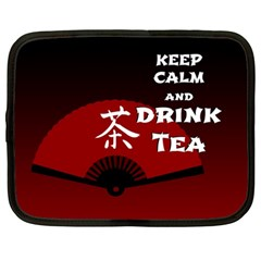 Keep Calm And Drink Tea - dark asia edition Netbook Case (Large)