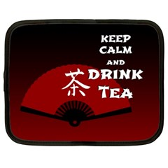 Keep Calm And Drink Tea   Dark Asia Edition Netbook Case (xxl)