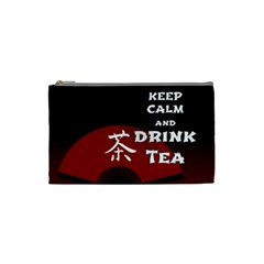 Keep Calm And Drink Tea - dark asia edition Cosmetic Bag (Small)