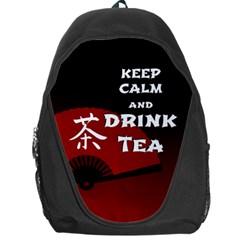 Keep Calm And Drink Tea   Dark Asia Edition Backpack Bag