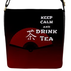 Keep Calm And Drink Tea   Dark Asia Edition Flap Messenger Bag (s)