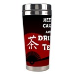 Keep Calm And Drink Tea - dark asia edition Stainless Steel Travel Tumblers Center