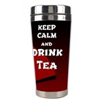 Keep Calm And Drink Tea - dark asia edition Stainless Steel Travel Tumblers Right