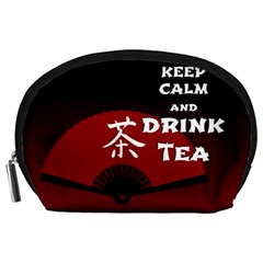 Keep Calm And Drink Tea - dark asia edition Accessory Pouches (Large)
