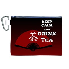 Keep Calm And Drink Tea - dark asia edition Canvas Cosmetic Bag (XL)