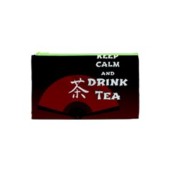 Keep Calm And Drink Tea - dark asia edition Cosmetic Bag (XS)
