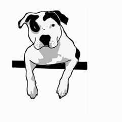Pit Bull T Bone Graphic  Large Garden Flag (two Sides)