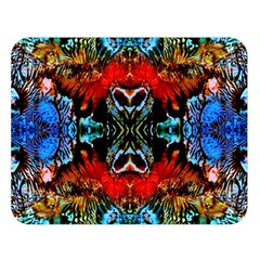 Colorful  Underwater Plants Pattern Double Sided Flano Blanket (large)