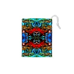 Colorful  Underwater Plants Pattern Drawstring Pouches (XS)