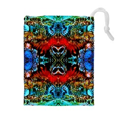 Colorful  Underwater Plants Pattern Drawstring Pouches (Extra Large)