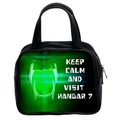 Keep Calm And Visit Hangar 7 Classic Handbags (2 Sides)