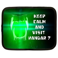 KEEP CALM AND VISIT HANGAR 7 Netbook Case (XL)