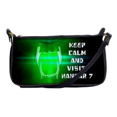 Keep Calm And Visit Hangar 7 Shoulder Clutch Bags