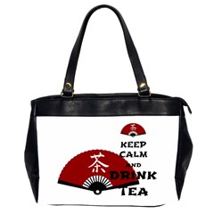 keep calm and drink tea - asia edition Office Handbags (2 Sides)