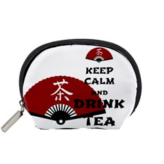 keep calm and drink tea - asia edition Accessory Pouches (Small)