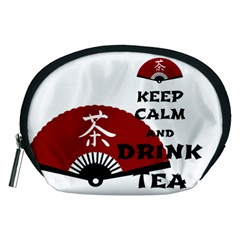 keep calm and drink tea - asia edition Accessory Pouches (Medium)