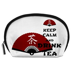 keep calm and drink tea - asia edition Accessory Pouches (Large)