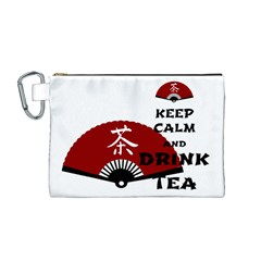 keep calm and drink tea - asia edition Canvas Cosmetic Bag (M)