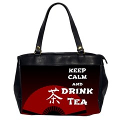 Keep Calm And Drink Tea - dark asia edition Office Handbags (2 Sides)