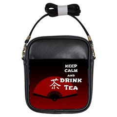 Keep Calm And Drink Tea - dark asia edition Girls Sling Bags