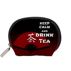 Keep Calm And Drink Tea - dark asia edition Accessory Pouches (Small)