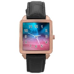Aura By Bighop Collection Rose Gold Leather Watch