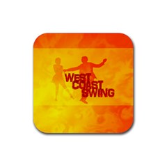 WEST COAST SWING Rubber Square Coaster (4 pack)