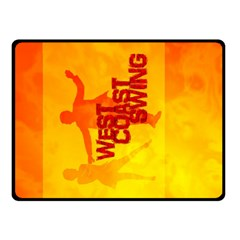 WEST COAST SWING Double Sided Fleece Blanket (Small)