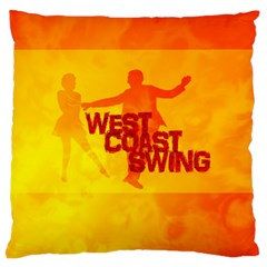 West Coast Swing Large Flano Cushion Case (two Sides)