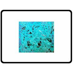 Aquamarine Collection Double Sided Fleece Blanket (large)